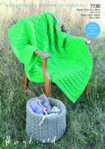 Hayfield Bonus Aran - 7730 Basket Cover & Throw Knitting Pattern